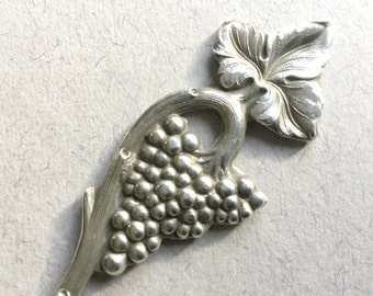 Portugeuse Domex ornate spoon, Grapes and vine leaves, Silver plate, Souvenir spoon, Collectable spoon, Novelty spoon