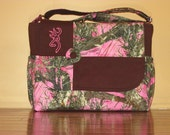 Handmade Pink True Timber Camo Diaper Bag & Changing Pad  Free Embroidery!