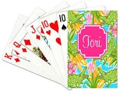 Preppy Alligator Deck of Cards Personalized Playing Cards Custom Monogrammed Poker Cards Monogrammed Card Deck