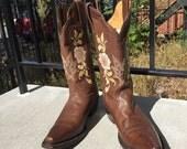 J B Dillon Vintage Genuine Goat Leather Shoes Boho Western Rustic
