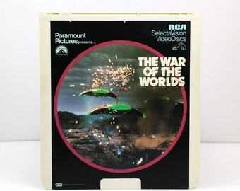 The War of the Worlds RCA SelectaVision VideoDisc CED / Vintage Movie Art / Science Fiction Movie poster