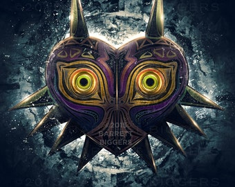 Legend of Zelda Majora's Mask Epic Poster - signed museum quality giclée fine art print