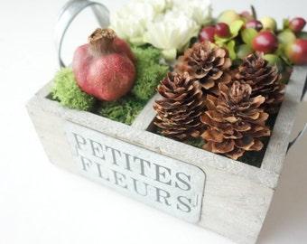Floral Arrangement, Modern Decor, Natural Decor, Specimen Box, Woodsy Decor, Natural Decoration, Modern Floral, Gift for Her, Gift Under 50
