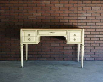 Desk  / French Regency Writing Desk / Vintage Desk by Henredon