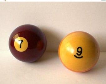 Vintage Bakelite Pool Billiard Ball 1 2 3 4 5 7 9 10 11 12 14 15  Lucky Number