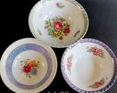 Small Serving Bowls - Three Vintage Rice or Vegetable Bowls - Mid Century Lusterware - Yamatsu China