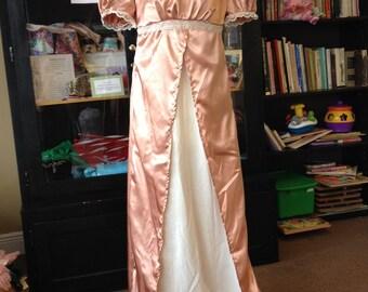 Made-to-order Regency Era Jane Austen Pride and Prejudice Dress Gown | Multiple Color Options