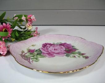 Hand Painted Porcelain Platter, Vintage Serving Dish, Bernadotte Fine Porcelain Czech Republic