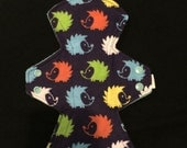 """10"""" moderate hedgehog flannel top cloth pad"""