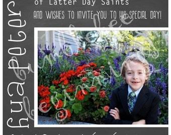 LDS Baptism Invitation