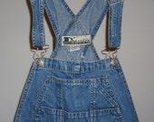 Free shipping! D'Mode Classix womens medium denim bib overalls