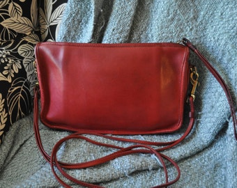 Coach Red Leather Basic Bag Made in the United States