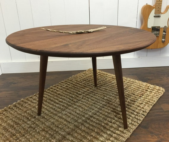 Etsy Round Coffee Tables: Round Coffee Table. Mid Century Modern Featuring By