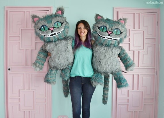 Cheshire cat soft toy with all the details. Really big.