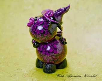 Witch Apprentice Kristabel Polymer Clay Piglet