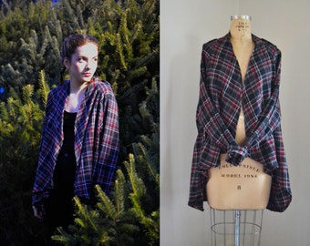Free Bird Flannel Cardigan / Flannel Shirt / Plaid Sweater / Flannel Coat / Nursing Robe / Flannel Robe / Back to school Fall Fashion