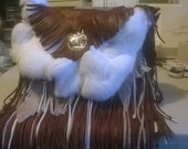 Full Fringed frontal of Crossbody Leather and Fur Handbag