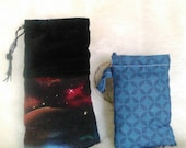 Padded Pouches / Gift set / Space Pouch / Flower of life Bag