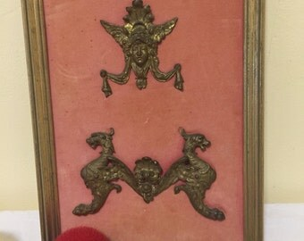 ART NOUVEAU FRAME with Art, Asian, Victorian Dragons, Brass Art, Bronze Art, Bronze Antique Frame at Ageless Alchemy