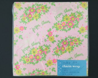 Vintage Gift Wrap - Charm Craft - For Your Shower Wrapping Paper
