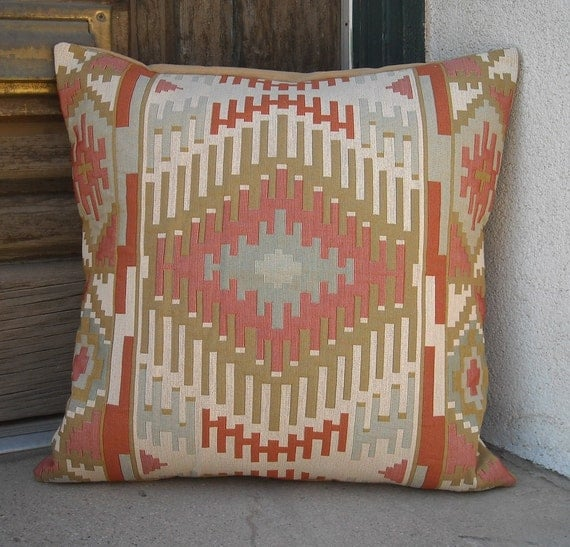 Southwestern Pillow Cover 18 x 18 to 24 x