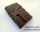 Personalized gift with leather journal gift made in Canada leather notebook with monogram leather portfolio engraved notepad