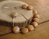 Set of 10 ceramic round beads - eco-friendly ceramic  round beads