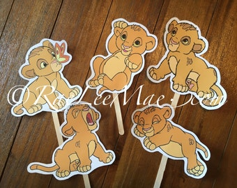 Baby Simba Lion king cutouts/diecuts/lion king baby shower decorations/DIY decorations/centerpieces/prince Simba/cut outs