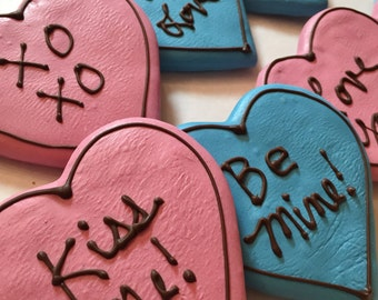 Gourmet Dog Treats - Big Heart Cookies Valentines Day