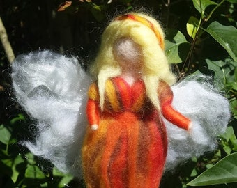 Needle felted Fairy, Waldorf Inspired, Autumn