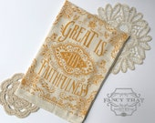 Great is Thy Faithfulness. Hymn Natural Cotton Flour Sack Tea Towel. Hymn Art. Hostess Housewarming gift. Gift for her. Kitchen art