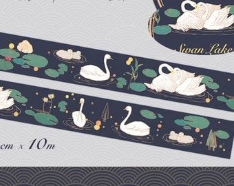 1 Roll of Limited Edition Washi Tape: Swan Lake