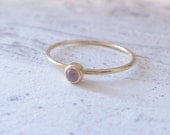 Moonstone ring - 9ct yellow gold ring - Orbit Collection - Moonstone skinny gold ring