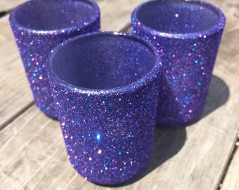 Votive holders in Galaxy glitter