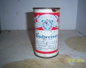 1950's Budweiser Lager Beer Anhueser Busch Newark, NJ 12 oz Metal can beer can