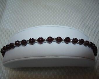 Garnet and Sterling Silver Bracelet   1809