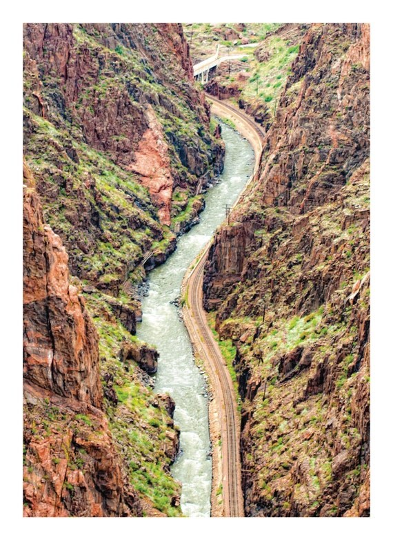 The Colorado River View from Royal Gorge Bridge in Colorado