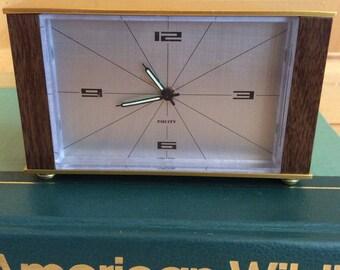 SALE! vintage mid century retro alarm clock