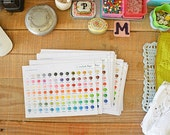 Colour Card Granny Kit Cotton colours card ready to ship by CrochetObjet