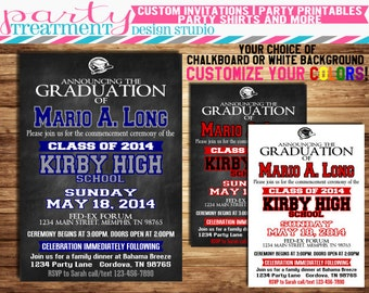 Chalkboard Varsity High School Graduation Invitation 068