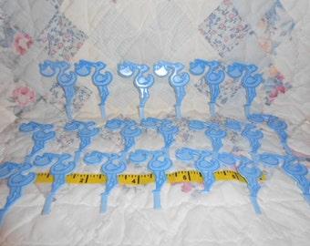 Blue Baby Boy Stork Cup Cake Picks-20 Total
