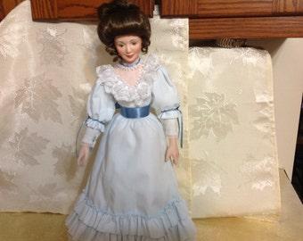 Vintage Bisque Porcelain Victorian Mother Collectable ' Sandra Kuck ' Doll 1990