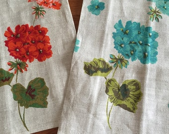 Linen Tea Towels - floral beauties