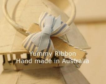 Baby Blue hair clip / baby hair bow / toddler hair bow / little girls hair bow / infant hair bow / infant hair clip / ribbon hair clip