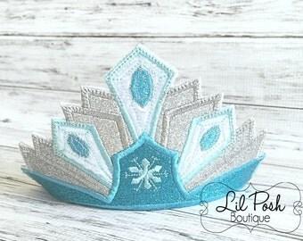 Girls Frozen Elsa inspired Crown with Headband