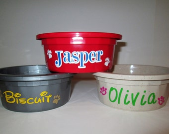 Small Personalized Crock Bowls
