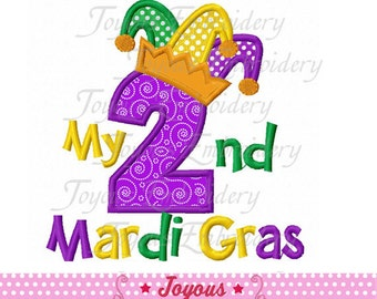Instant Download My 2nd Mardi Gras Applique Machine Embroidery Design NO:1905