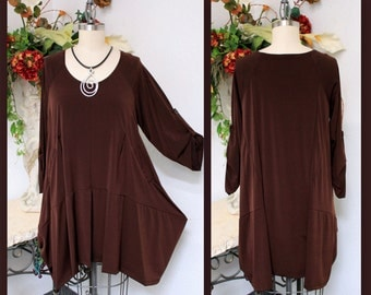 Dare2bstylish,Oversize Ultrastylish Lagenlook Plus Size tunic with Dual Pockets.