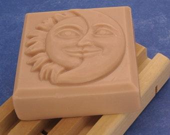 Black Amber & Lavender Goats Milk soap-Handmade-Free Shipping-3.9 Oz Square Celestial Bar-Vanilla-Egyptian Musk-Clary Sage