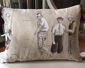 Four French Golfers Pillow